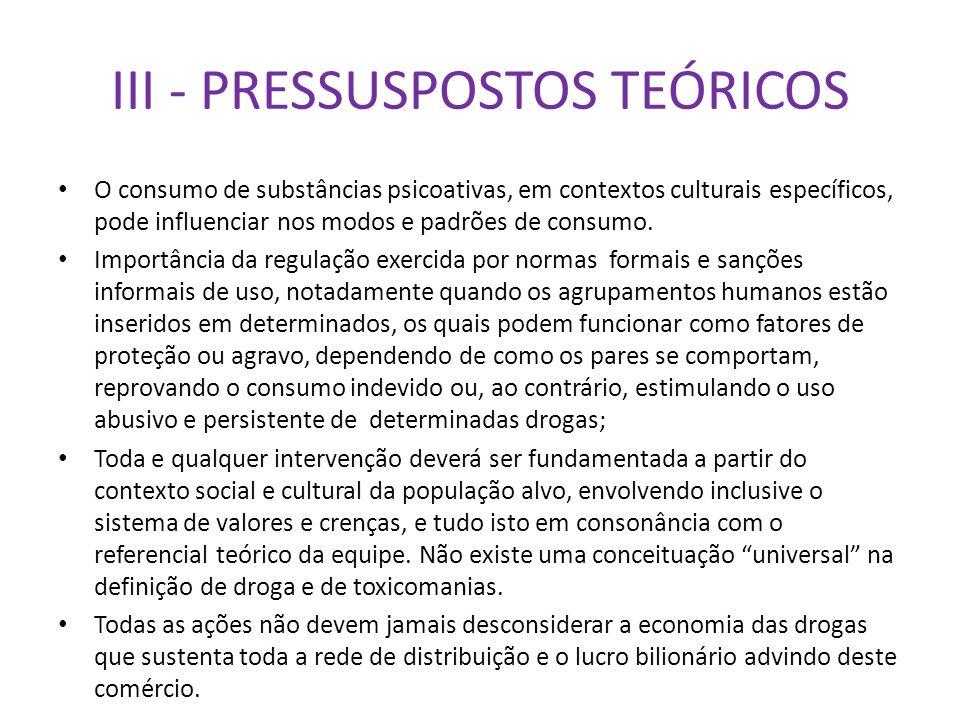 III - PRESSUSPOSTOS TEÓRICOS