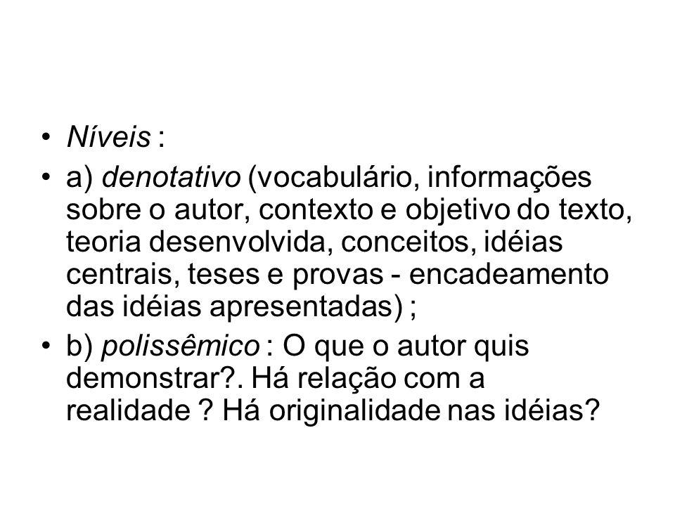Níveis :