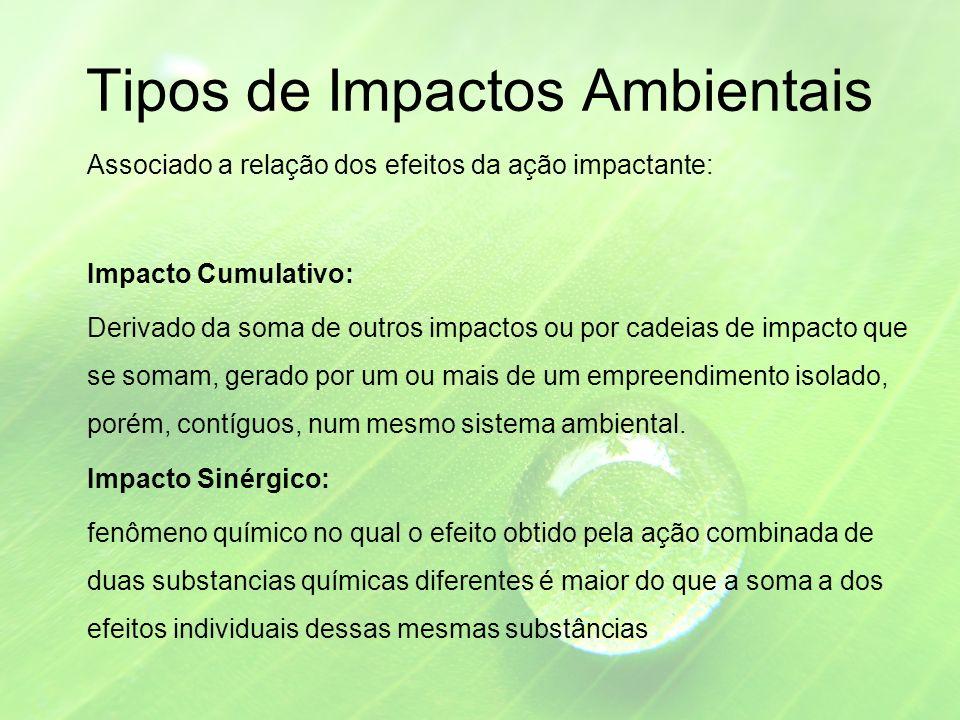 Tipos de Impactos Ambientais