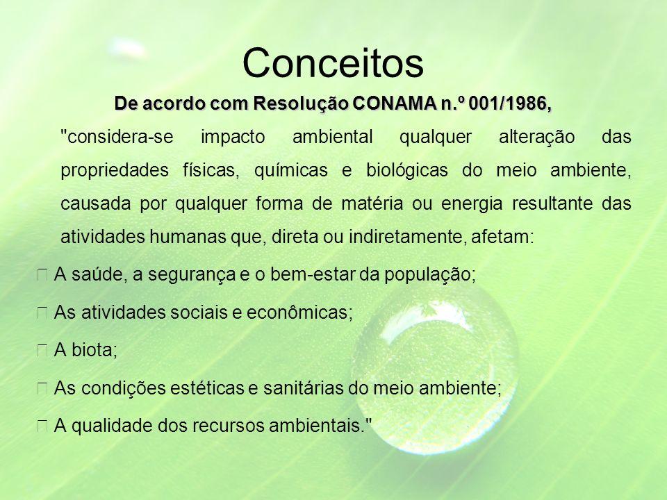De acordo com Resolução CONAMA n.º 001/1986,