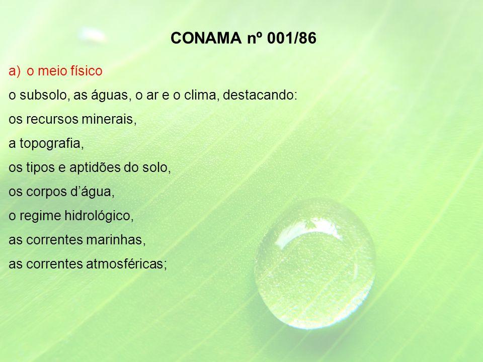 CONAMA nº 001/86 o meio físico
