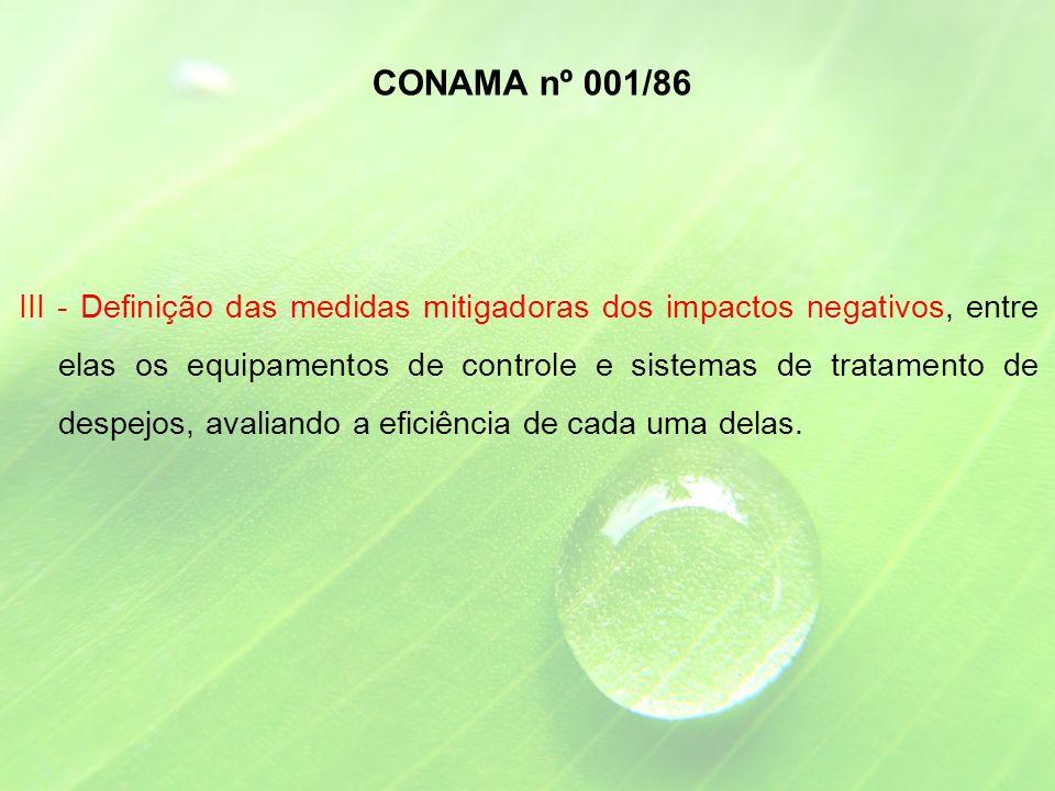 CONAMA nº 001/86