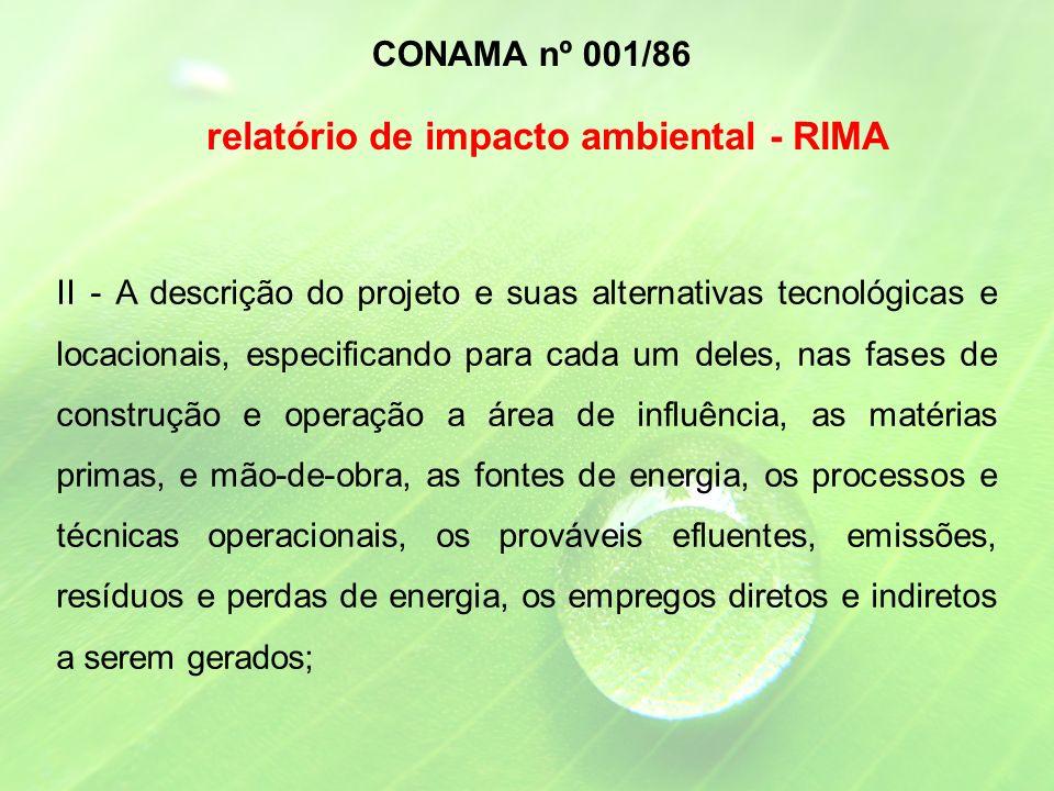 relatório de impacto ambiental - RIMA