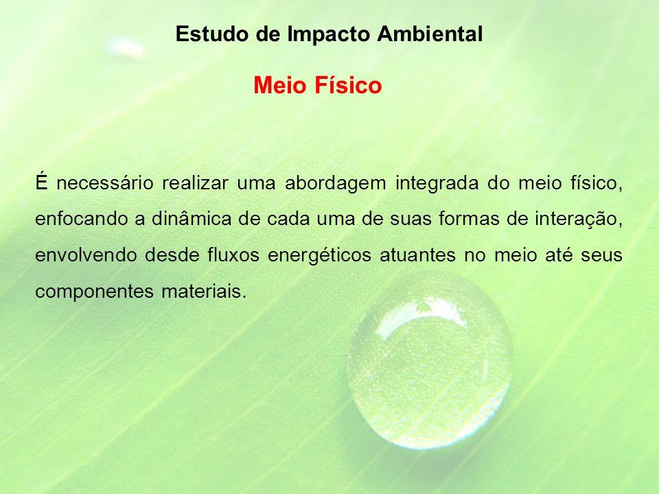 Meio Físico Estudo de Impacto Ambiental