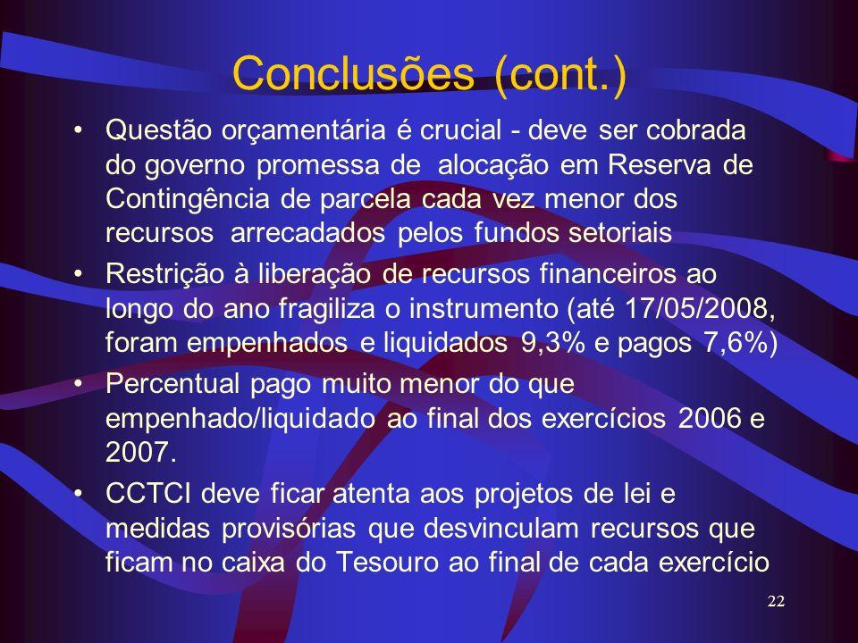 Conclusões (cont.)