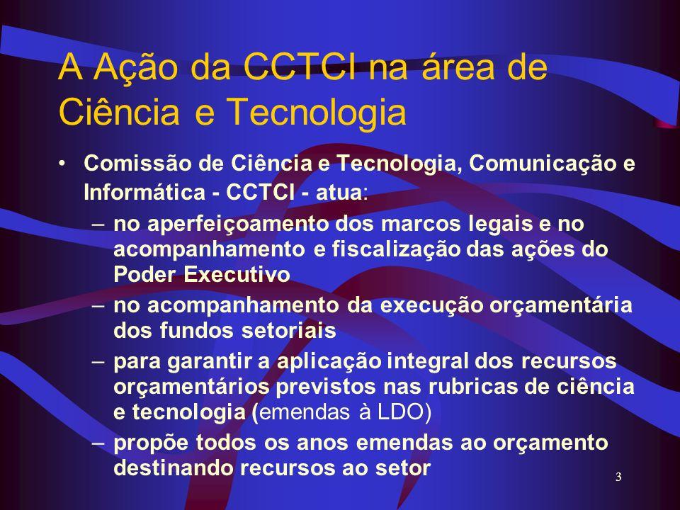 A Ação da CCTCI na área de Ciência e Tecnologia