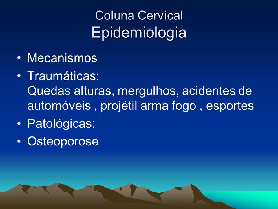 Coluna Cervical Epidemiologia