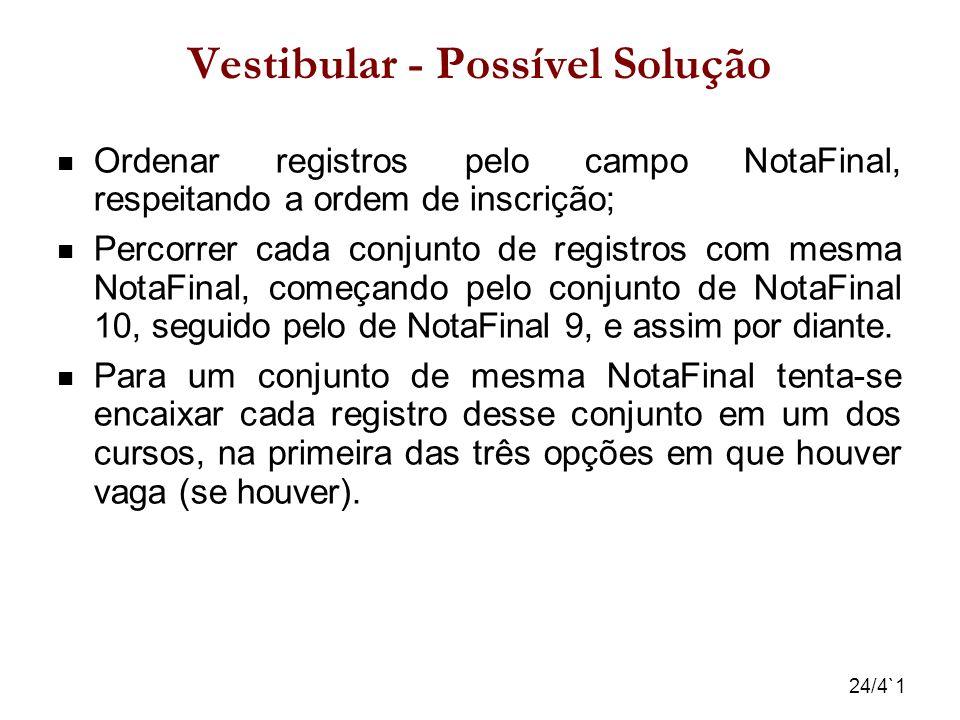 Vestibular - Possível Solução