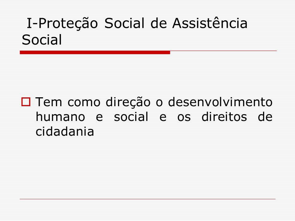 I-Proteção Social de Assistência Social