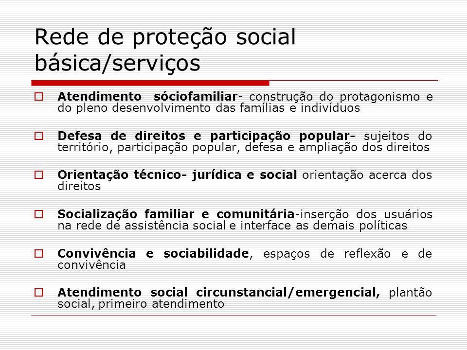 Rede de proteção social básica/serviços