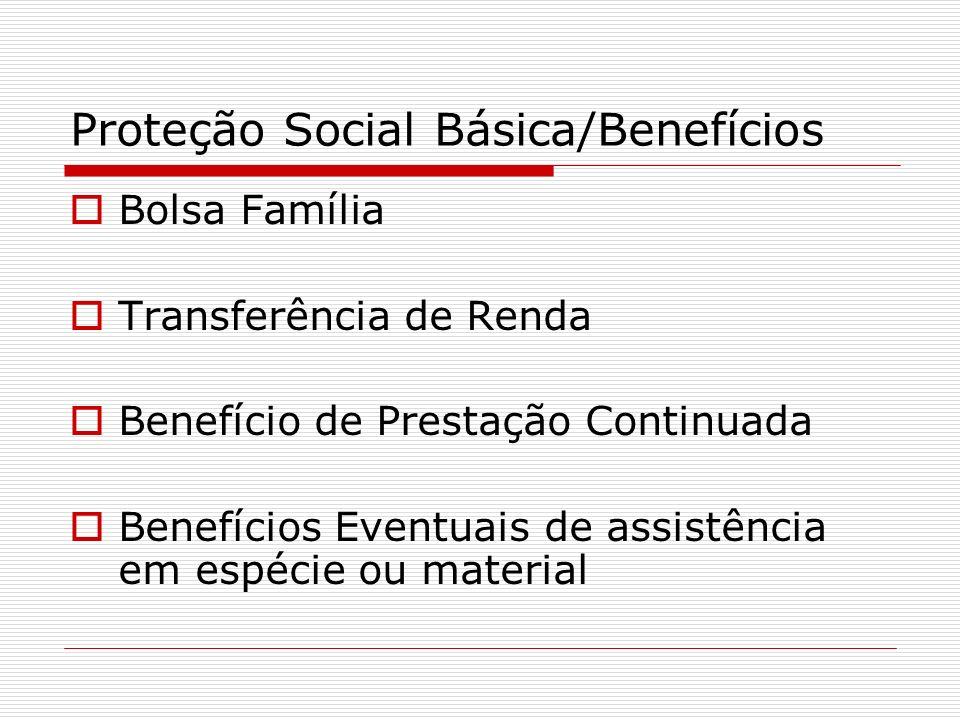 Proteção Social Básica/Benefícios