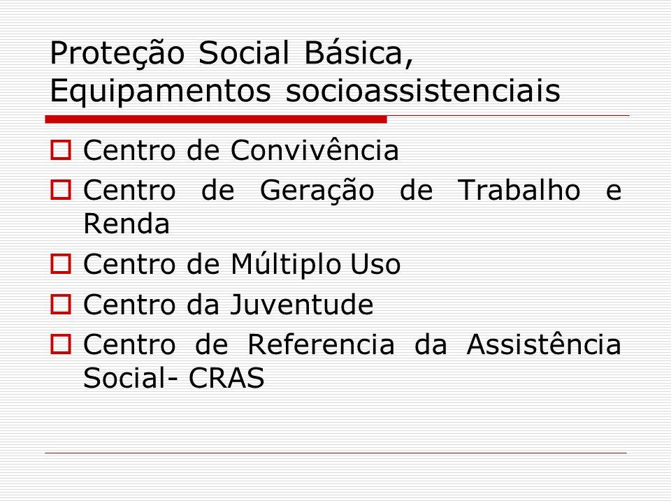 Proteção Social Básica, Equipamentos socioassistenciais