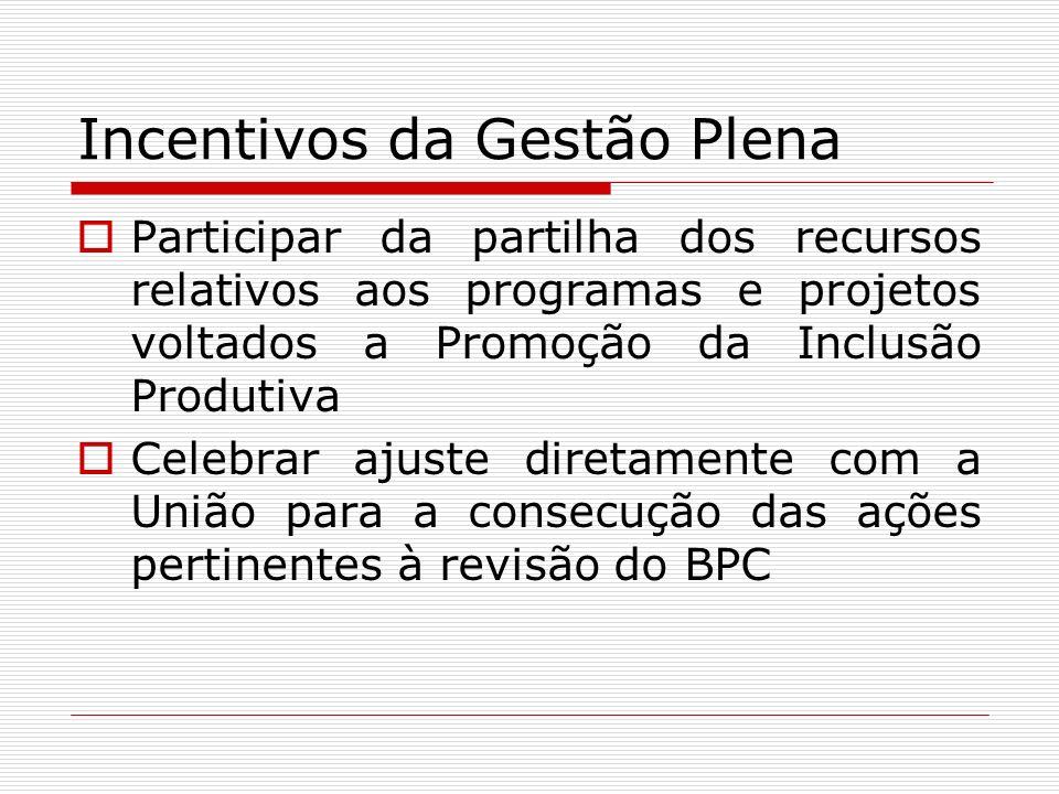 Incentivos da Gestão Plena