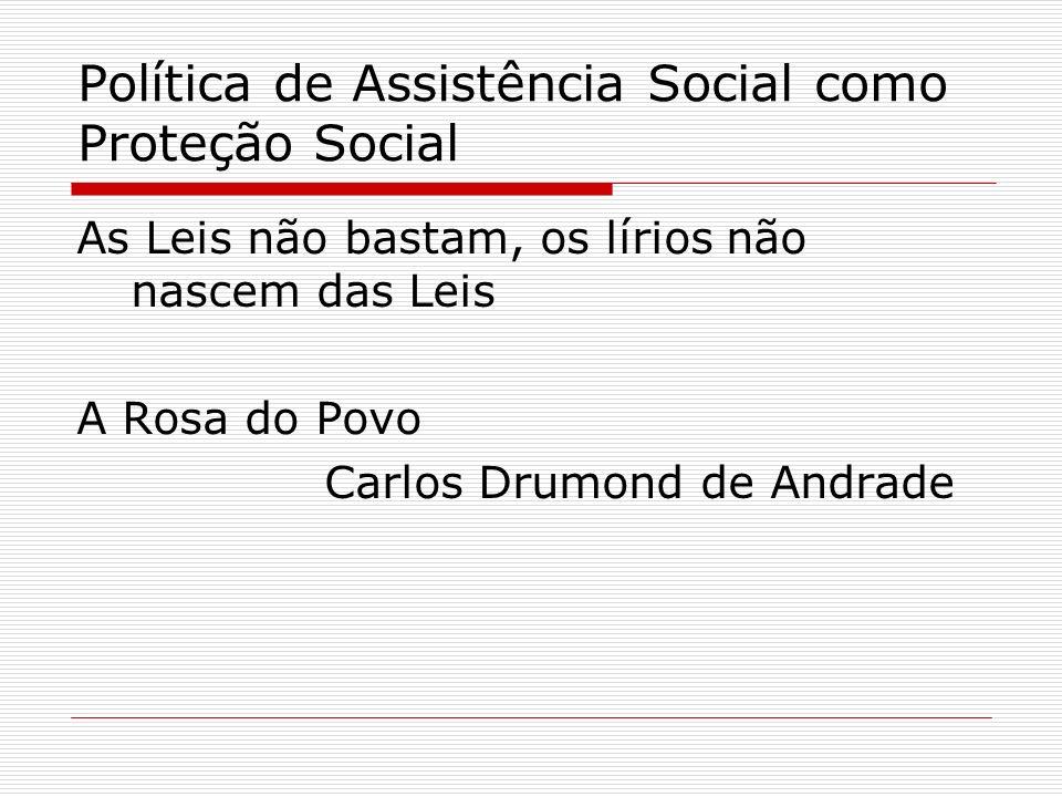 Política de Assistência Social como Proteção Social