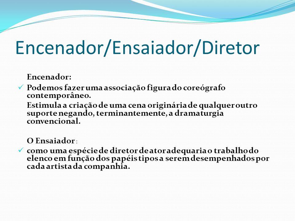 Encenador/Ensaiador/Diretor