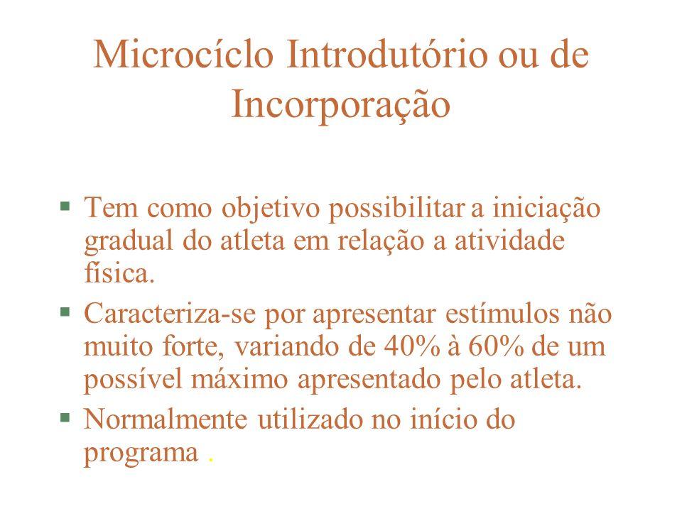 Microcíclo Introdutório ou de Incorporação