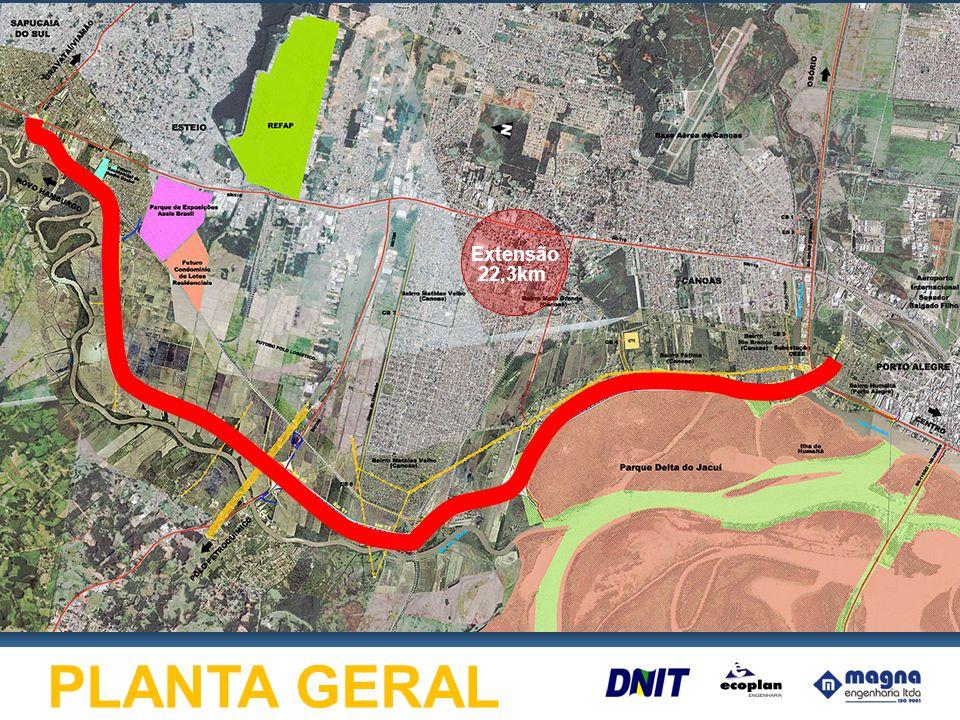 Extensão 22,3km PLANTA GERAL