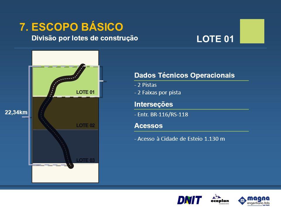 7. ESCOPO BÁSICO LOTE 01 Divisão por lotes de construção
