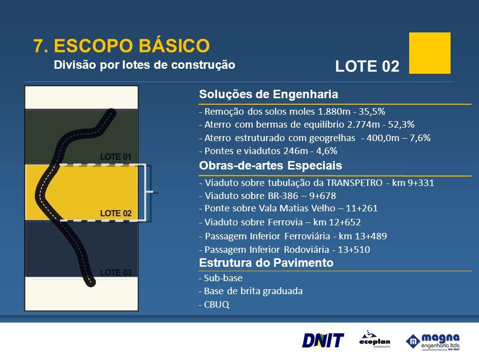 7. ESCOPO BÁSICO LOTE 02 Divisão por lotes de construção