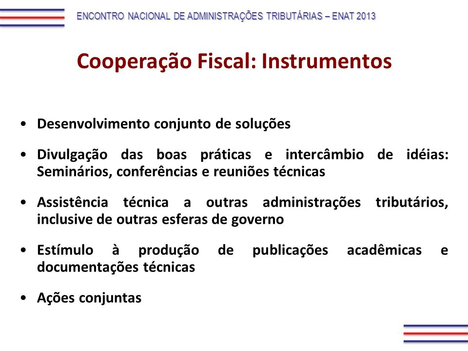 Cooperação Fiscal: Instrumentos