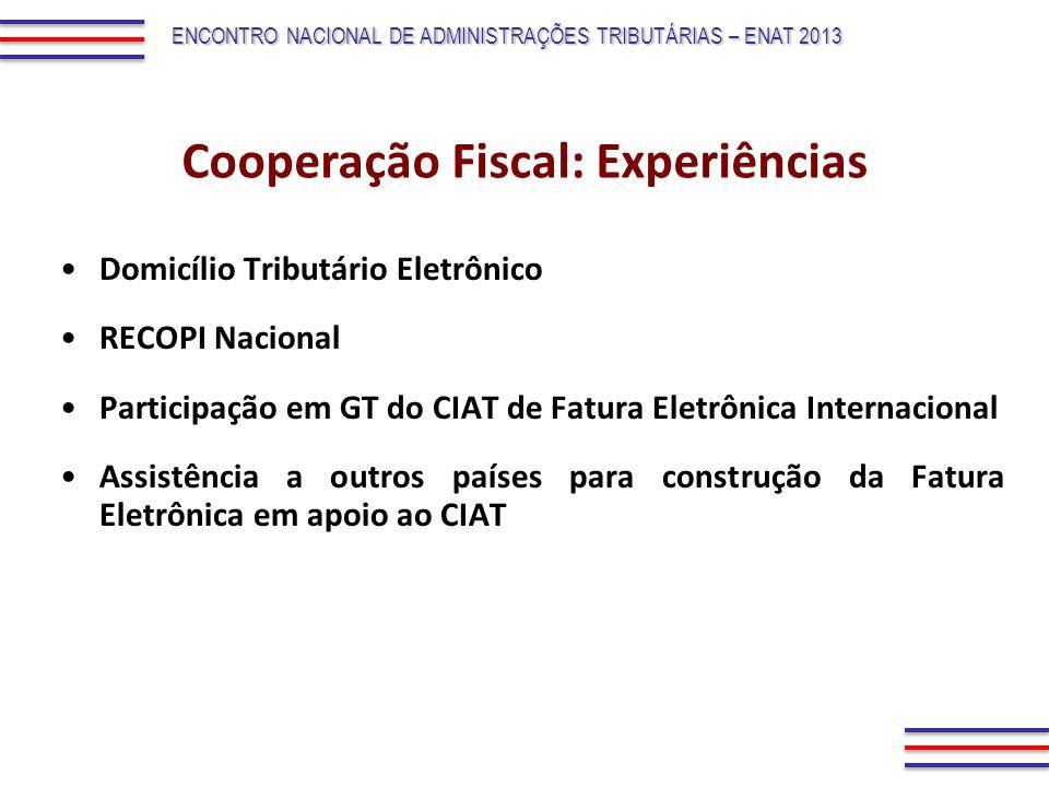 Cooperação Fiscal: Experiências