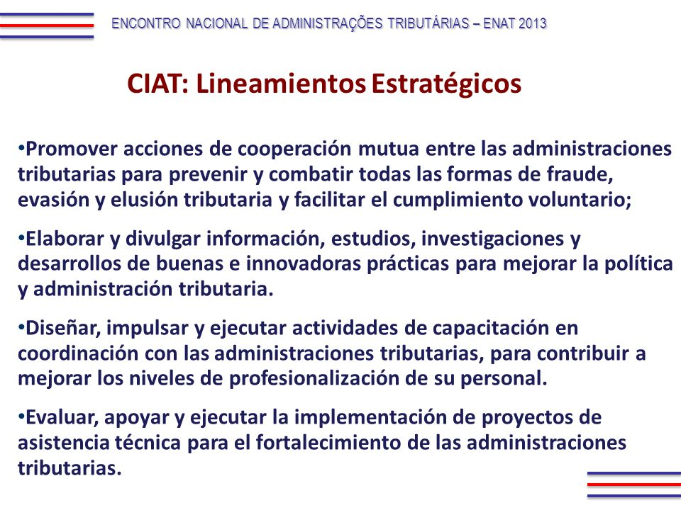 CIAT: Lineamientos Estratégicos