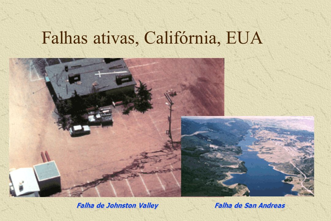 Falhas ativas, Califórnia, EUA