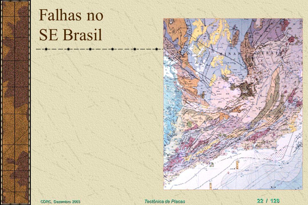 Falhas no SE Brasil CDRC, Dezembro 2003 Tectônica de Placas