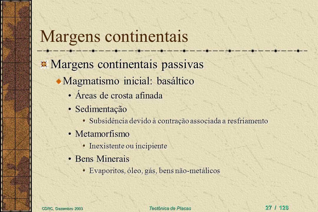 Margens continentais Margens continentais passivas
