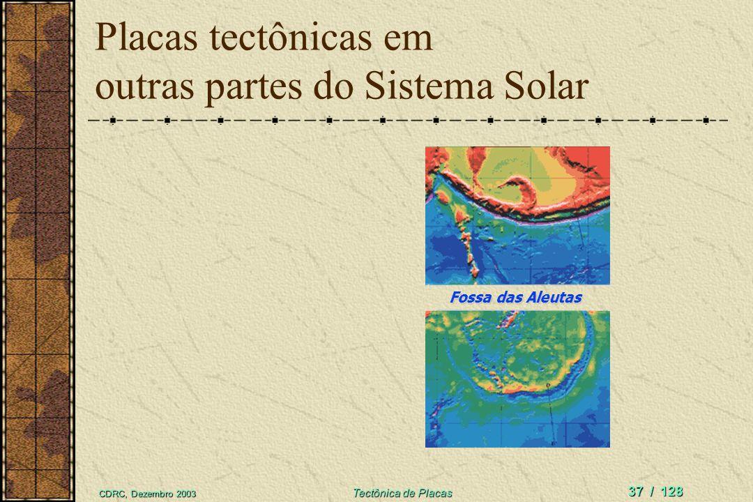 Placas tectônicas em outras partes do Sistema Solar