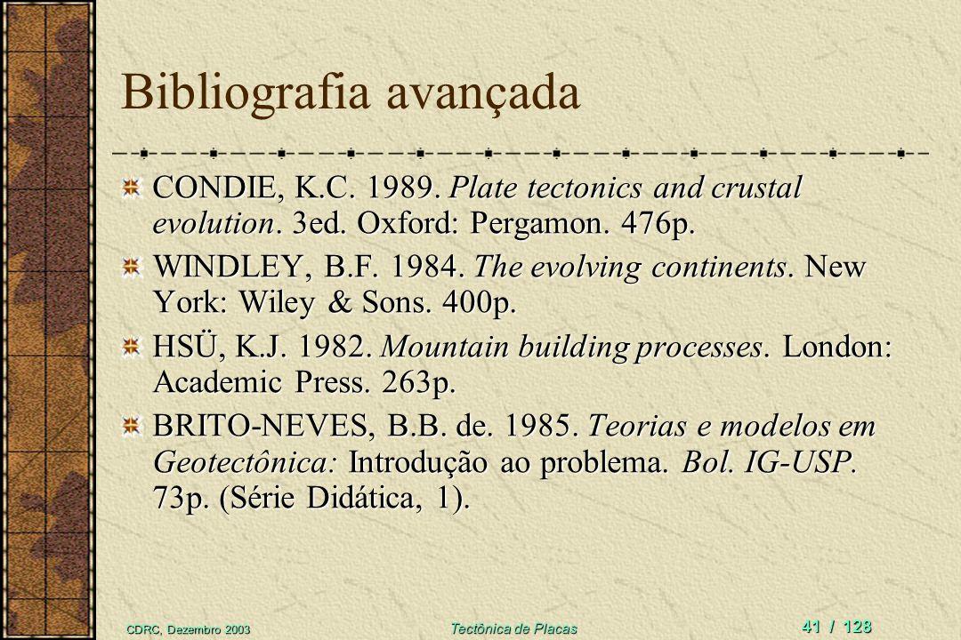 Bibliografia avançada