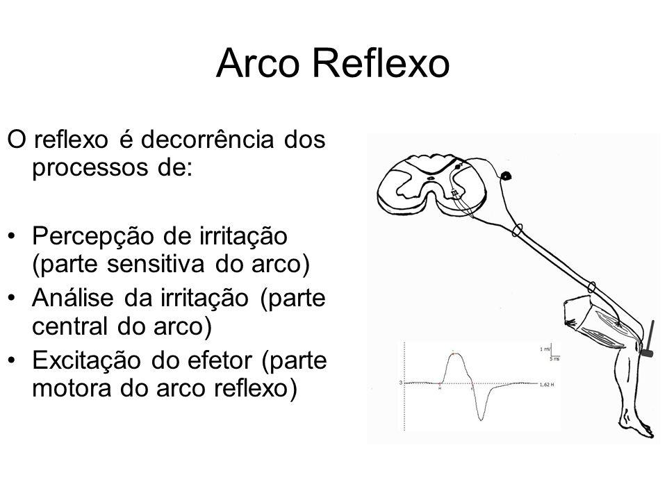 Arco Reflexo O reflexo é decorrência dos processos de: