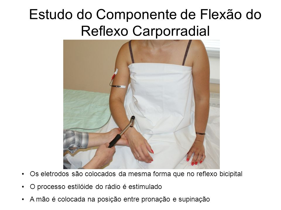 Estudo do Componente de Flexão do Reflexo Carporradial