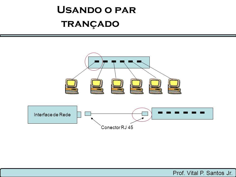 Usando o par trançado Prof. Vital P. Santos Jr. Interface de Rede