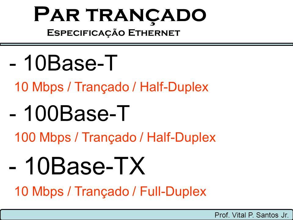 Par trançado Especificação Ethernet