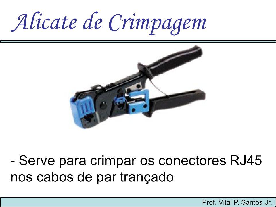 Alicate de Crimpagem- Serve para crimpar os conectores RJ45 nos cabos de par trançado.