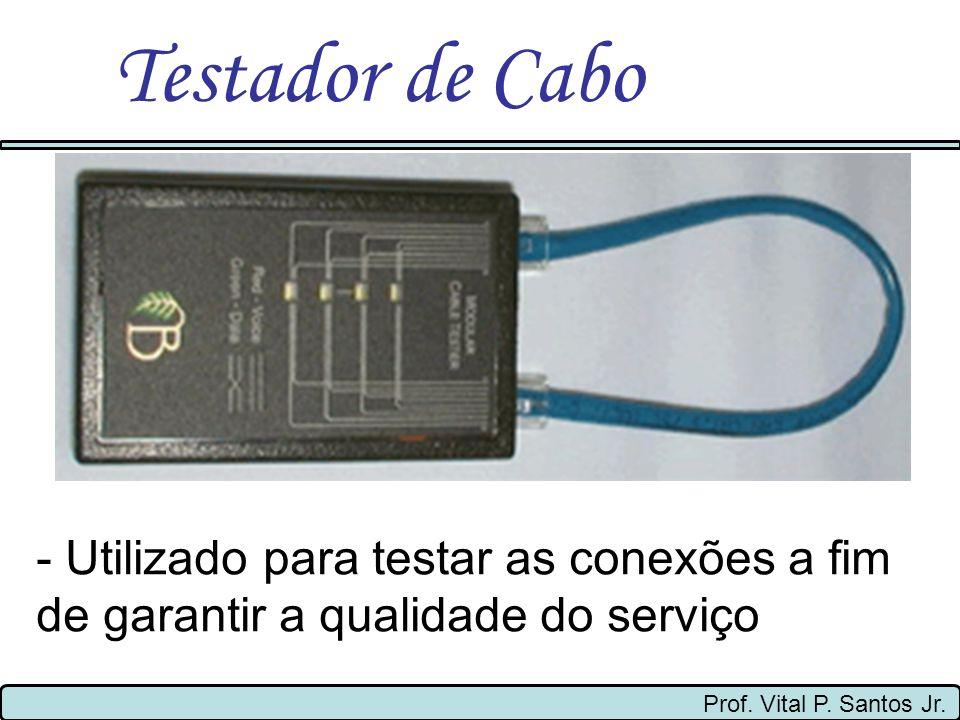 Testador de Cabo- Utilizado para testar as conexões a fim de garantir a qualidade do serviço.