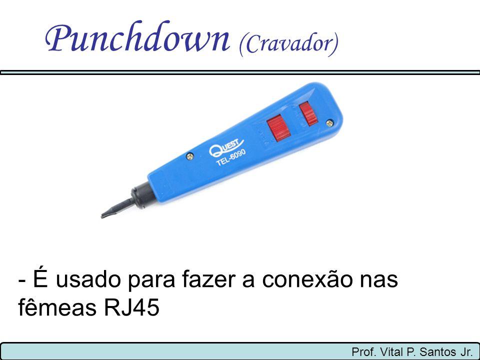 Punchdown (Cravador) - É usado para fazer a conexão nas fêmeas RJ45