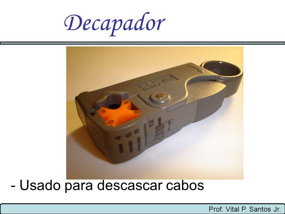 Decapador - Usado para descascar cabos Prof. Vital P. Santos Jr.