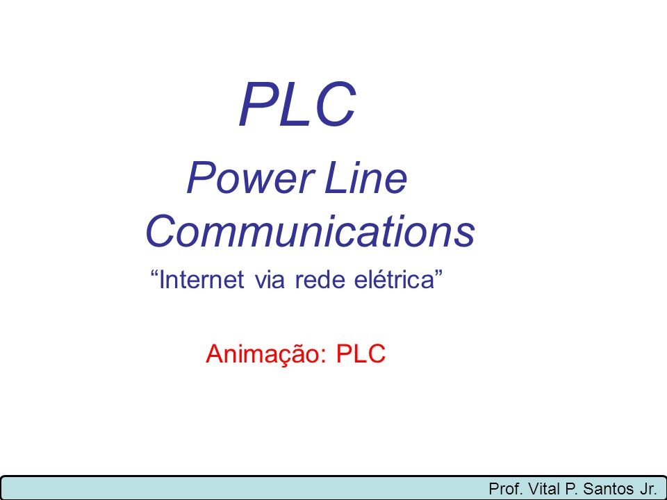 PLC Power Line Communications Internet via rede elétrica