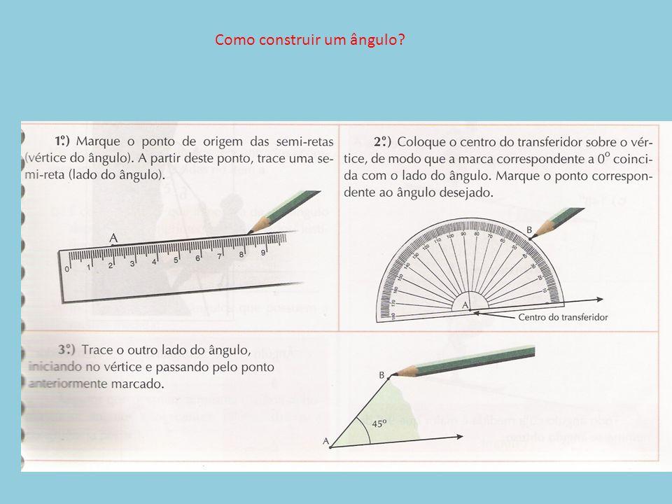 Como construir um ângulo