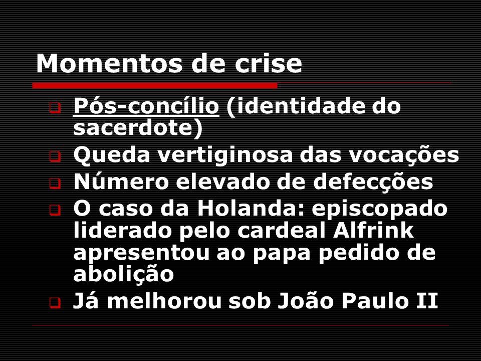 Momentos de crise Pós-concílio (identidade do sacerdote)