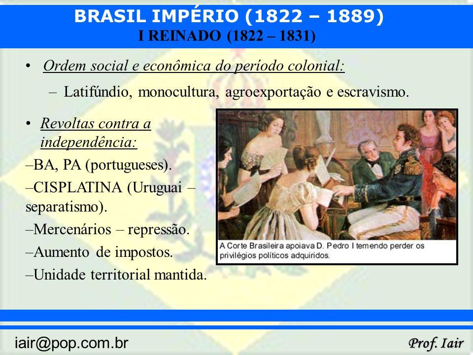Ordem social e econômica do período colonial: