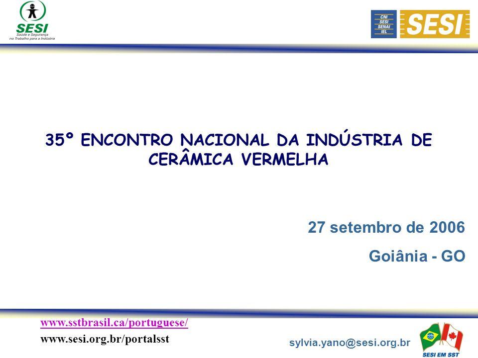 35º ENCONTRO NACIONAL DA INDÚSTRIA DE CERÂMICA VERMELHA