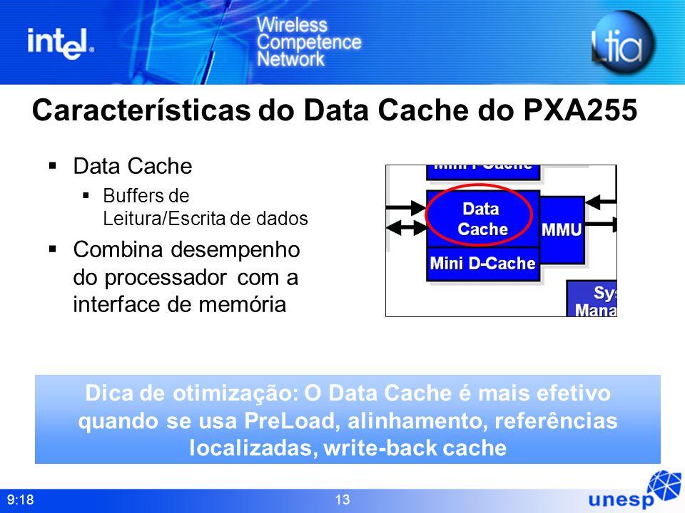 Características do Data Cache do PXA255