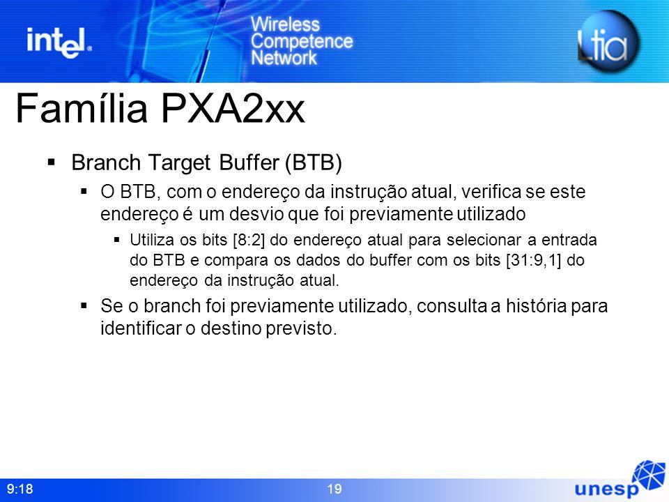 Família PXA2xx Branch Target Buffer (BTB)