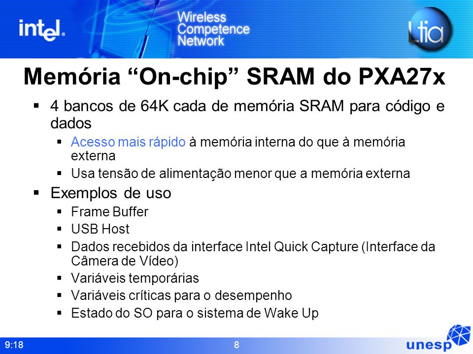 Memória On-chip SRAM do PXA27x