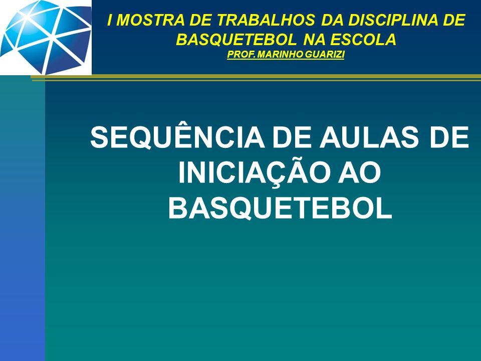 SEQUÊNCIA DE AULAS DE INICIAÇÃO AO BASQUETEBOL
