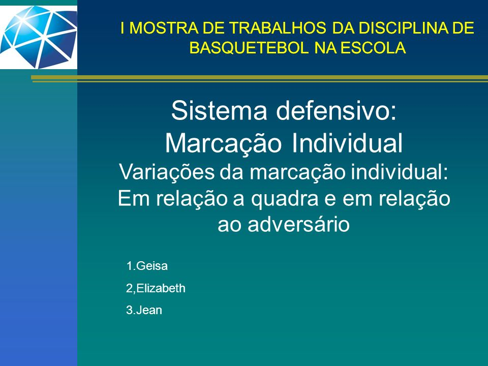 Sistema defensivo: Marcação Individual