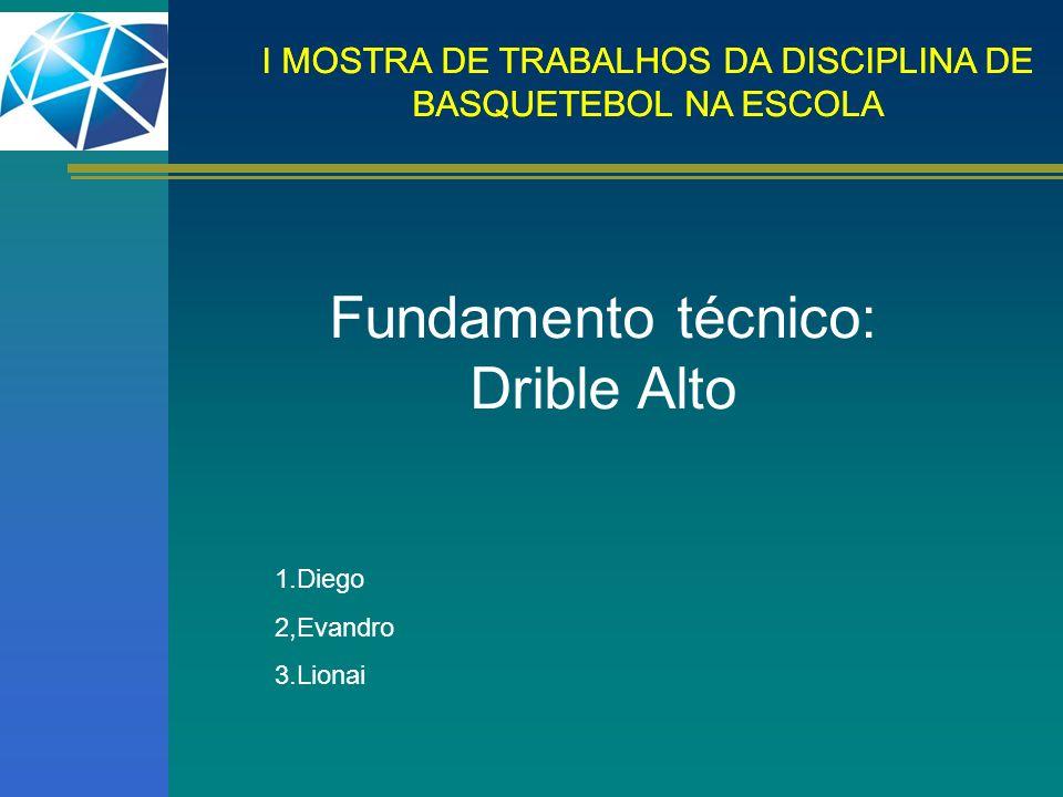 Fundamento técnico: Drible Alto 1.Diego 2,Evandro 3.Lionai
